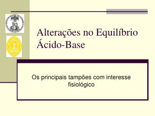Altera  es no Equil brio  cido-Base