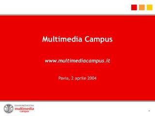 Multimedia Campus  multimediacampus.it  Pavia, 2 aprile 2004