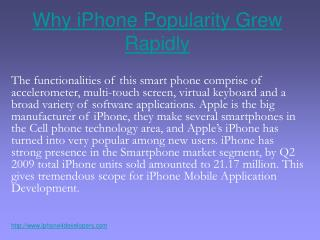 Why iPhone Popularity Grew Rapidly