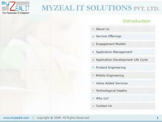 Myzeal IT-Offshore Software Development & Web Apllication Se