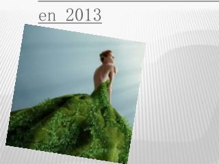 Robe de soirée verte en 2013