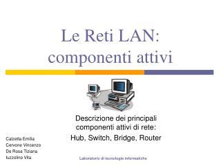 Le Reti LAN: componenti attivi