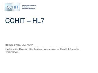 CCHIT   HL7