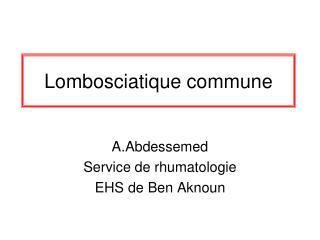 Lombosciatique commune
