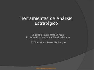 La Estrategia del Oc ano Azul: El Lienzo Estrat gico y el T nel del Precio  W. Chan Kim y Renee Mauborgne