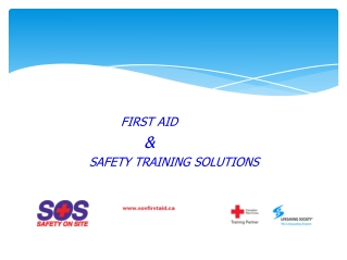 First Aid & Safety Training Solutions