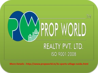 3C Sports Village noida - Think Green, Live Green 9811004272