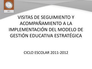 VISITAS DE SEGUIMIENTO Y ACOMPA AMIENTO A LA IMPLEMENTACI N DEL MODELO DE GESTI N EDUCATIVA ESTRAT GICA