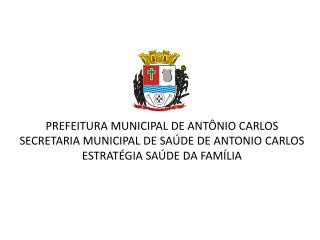 PREFEITURA MUNICIPAL DE ANT NIO CARLOS SECRETARIA MUNICIPAL DE SA DE DE ANTONIO CARLOS ESTRAT GIA SA DE DA FAM LIA