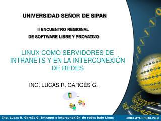 LINUX COMO SERVIDORES DE INTRANETS Y EN LA INTERCONEXI N DE REDES