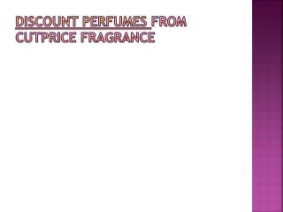 Discount perfumes