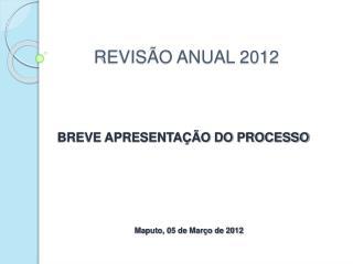 REVIS O ANUAL 2012