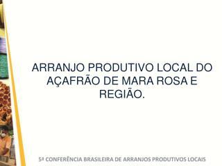 ARRANJO PRODUTIVO LOCAL DO A AFR O DE MARA ROSA E REGI O.