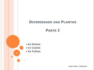 Diversidade das Plantas  Parte I