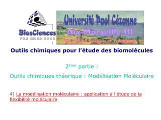 Outils chimiques pour l  tude des biomol cules  2 me partie : Outils chimiques th orique : Mod lisation Mol culaire  4 L