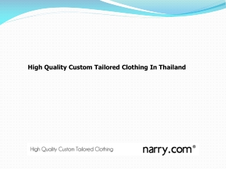 High Quality Custom Tailored Clothing