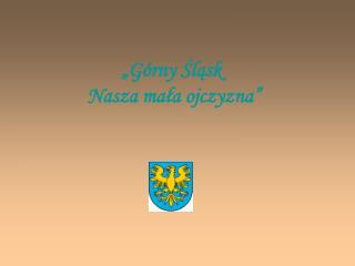 G rny Slask  Nasza mala ojczyzna