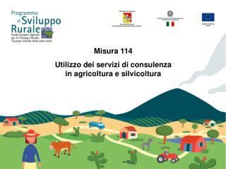 Misura 114  Utilizzo dei servizi di consulenza in agricoltura e silvicoltura