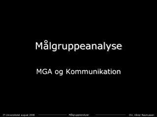 M lgruppeanalyse