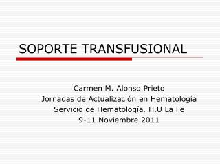 SOPORTE TRANSFUSIONAL