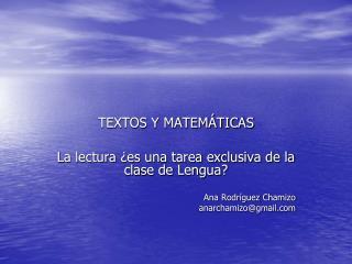 TEXTOS Y MATEM TICAS