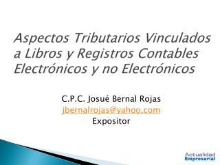 Aspectos Tributarios Vinculados a Libros y Registros Contables Electr nicos y no Electr nicos