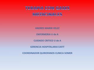 TERAPIA CON GASES MEDICINALES