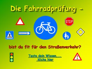 Die Fahrradpr fung -