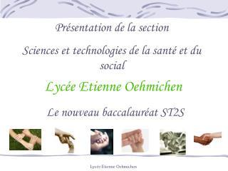 Lyc e Etienne Oehmichen