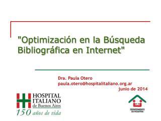 Optimizaci n en la B squeda Bibliogr fica en Internet