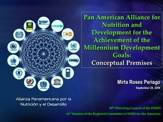 Pan American Alliance for Nutrition and Development for the Achievement of the Millennium Development Goals: Conceptual