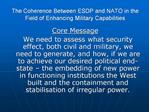 The Coherence Between ESDP and NATO in the Field of Enhancing Military Capabilities