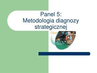Panel 5: Metodologia diagnozy strategicznej