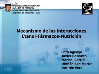 UNIVERSIDAD DE CONCEPCI N FACULTAD DE FARMACIA DEPARTAMENTO DE FARMACIA Asignatura de Toxicolog a - 2003
