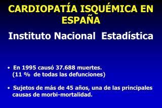 CARDIOPAT A ISQU MICA EN ESPA A