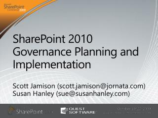 SharePoint 2010 Governance Planning and Implementation
