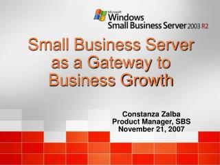 Small Business Server as a Gateway to Business Growth