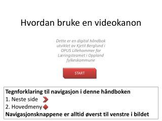 Hvordan bruke en videokanon
