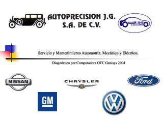 Servicio y Mantenimiento Automotriz, Mec nico y El ctrico.  Diagn stico por Computadora OTC Genisys 2004