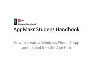 AppMakr Student Handbook