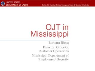 OJT in Mississippi