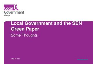 Local Government and the SEN Green Paper