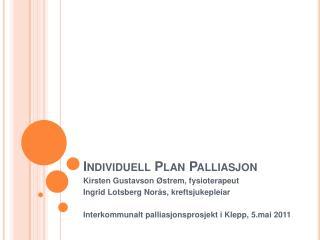 Individuell Plan Palliasjon