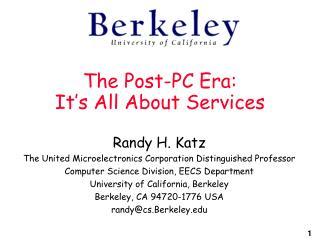 The Post-PC Era: