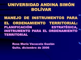UNIVERSIDAD ANDINA SIM N BOL VAR
