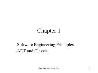 -Software Engineering Principles -ADT and Classes