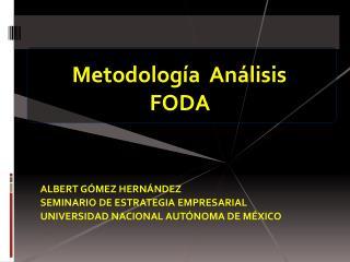 Metodolog a  An lisis  FODA