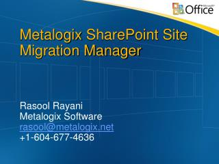 Metalogix SharePoint Site Migration Manager