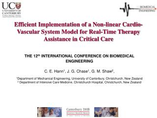 Efficient Implementation of a Non-linear Cardio-Vascular System Model for Real-Time Therapy Assistance in Critical Care