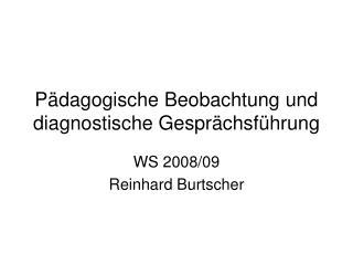 P dagogische Beobachtung und diagnostische Gespr chsf hrung